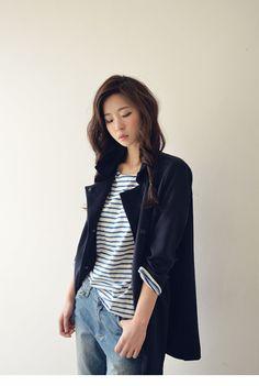 Trendy commde オーバージャケット(2色) - 韓国ファッション通販|coco-closetココクローゼット