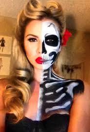 half skeleton halloween costume - Google Search