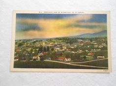 Vintage Postcard Wytheville Virginia Sunset by WagnersTreasures, $3.00