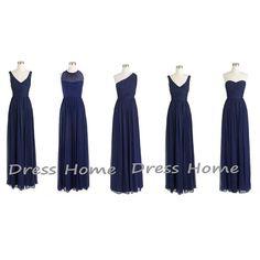 Blue Bridesmaid Dress  Long Bridesmaid Dress  by DressHome on Etsy