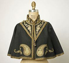Cape Date: late 19th century Culture: European, Eastern Medium: wool