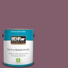 BEHR Premium Plus 1-gal. #bic-35 Vintage Plum Satin Enamel Interior Paint