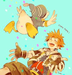 Kingdom Hearts Series art. Those who never had a problem with Donald, or any of their party members, or just love 'em in spite of there flaws be like! ☝