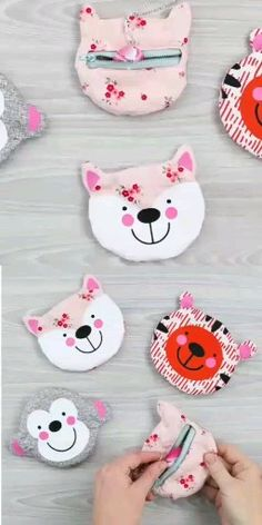 Fun animal shaped zipper pouches to make with your Cricut Maker! Get the cut file and directions as well as a full video tutorial! # cricut sewing projects Zipper Pouch with Your Cricut Cricut Tutorials, Sewing Tutorials, Sewing Hacks, Sewing Crafts, Sewing Patterns, Sewing Tips, Small Zipper Pouch, Zipper Pouch Tutorial, Sewing Projects For Beginners