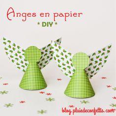 anges en papier DIY
