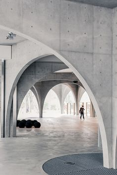 Concrete curved archways. #design #inspiration #architecture