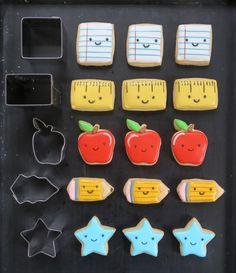 Back To School Tic-Tac-Toe Cookies | Melissa Joy Cookies