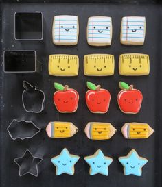 Back To School Tic-Tac-Toe Cookies   Melissa Joy Cookies
