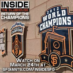 For all our out of area #SFGiants lovers don't miss the website debut of the Inside the Clubhouse: Return of the Champions! #InsideSFG