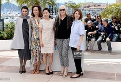 Jury members Leila Hatami, Carole Bouquet, Do-yeon Jeon, jury president Jane Campion and jury member Sofia Coppola attend the Jury photocall during the 67th Annual Cannes Film Festival on May 14, 2014 in Cannes, France.