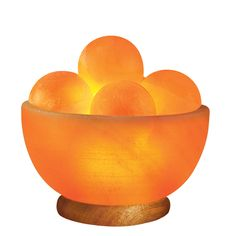 """7"""" Crystal Salt Light - warms and cleans the air while you sleep."""