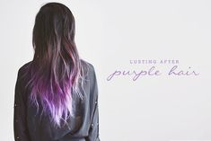 purple and brunette hair - Google Search