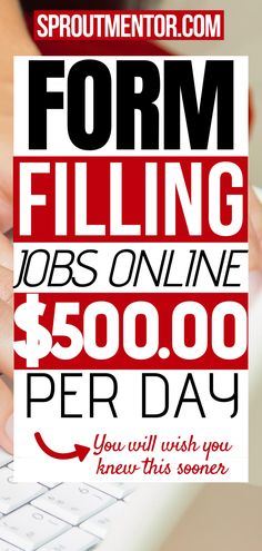 These form filling jobs will help you to make money online during your spare time while you work from home. These side jobs are ideal for anyone even people without a college degree or special expert skills. #onlinejobs #workfromhomejobs #sidejobs #makemoneyonline #money #finance #jobs #stayathomejobs #extracashideas #formfillingjobs