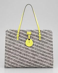 Jason Wu Jourdan Cotton and Leather Tote Bag