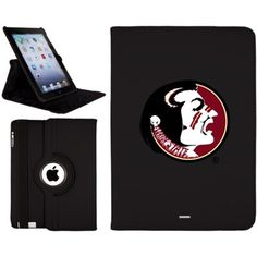 Florida State Seminoles iPad Air Swivel – Black  Celebrate your Florida State Seminoles fandom with this iPad Air Swivel! Protect your iPad with this faux leather case while supporting the Florida State Seminoles. It features printed team graphics boasting your Florida State Seminoles pride! Shop for your favorite College gear at Fanatics.com.