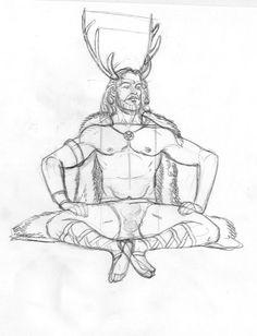 Cernunnos/Herne/Pashupati, father of the Shining Twins