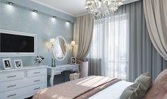 Интерьер квартиры в стиле неоклассика.. Спальня