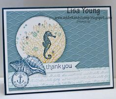 A Beach Theme Thank You by genesis - Cards and Paper Crafts at Splitcoaststampers