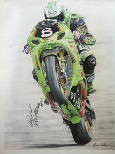 Richard Britton (1970 – 18 September 2005) was one of Ireland's leading motorcycle road racers before his death at Ballybunion road races. A3 Colored Pencil
