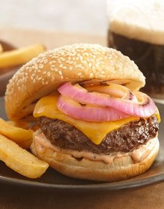 Dress up your burger with a DIY condiment. Mix  mayonnaise, ketchup and Grill Mates Worcestershire Pub Burger Seasoning.