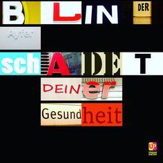 Blinder Eifer ... #gesundheit #schaden #ayfer #friseur #words #marke #friseur #berlinmitte #urbanpoetry #spruch #berlin #wien #zürich #frankfurt #hamburg
