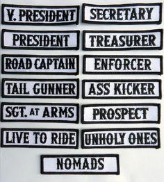 Outlaw Biker Front of Vest Jacket Title [ BLACK] 13 Pcs Patches biker patches http://www.amazon.com/dp/B00F6MKQY2/ref=cm_sw_r_pi_dp_ev.Lvb03JT3C9