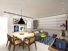 Apartamento .AG: Salas de jantar translation missing: br.style.salas-de-jantar.moderno por Amis Arquitetura & Design