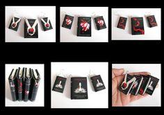 Twilight Saga Book Pendant and Earrings by Devilish--Designs.deviantart.com on @deviantART