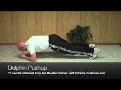 Dolphin Pushup Exercise-UNKNOWN and CRAZY core exercise - YouTube