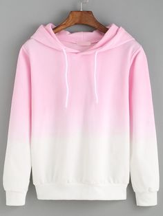 So creazy ! Just love ombre style so much ! This pink hoodie sweatshirt is so ad - Sweat Shirt - Ideas of Sweat Shirt - So creazy ! Just love ombre style so much ! This pink hoodie sweatshirt is so adorable ! i just can't leave cotton sweatshirt ! Mode Outfits, Casual Outfits, Fashion Outfits, Womens Fashion, Hooded Long Sleeve Shirt, Mode Kawaii, Vetement Fashion, Mode Style, Sweater Weather