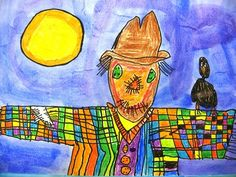 We had fun working with crayons and watercolor paint to create some fantastic Scarecrows. We learned how the crayon resists watercolor paint. We read the book Barn Dance by Bill Martin Jr. and John Archambault. We enjoyed the story and the illustrations of a scarecrow that comes alive at night.