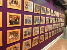 The hallway showing all of the awesome guests Rach has had on her show! via @rachaelraymag