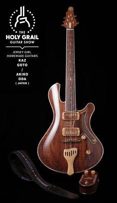 Exhibitor at The Holy Grail Guitar Show 2014: Kaz Goto & Akiko Oda, Jersey Girl Homemade Guitars, Japan http://www.jerseygirlhg.com http://holygrailguitarshow.com