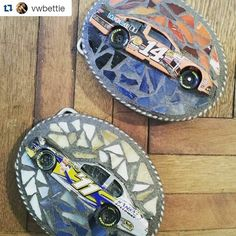 How it all started for Studio 11 Boutique.   The badass custom mosaic belt buckle!   Our customers are the best! #racefan
