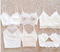 white bralettes