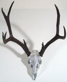 Lest I forget... I like unreasonable objects as decor. // Swarovski Crystal Deer Skull Art Sculpture