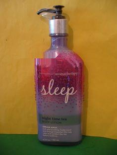 Bath & Body Works Aromatherapy Night Time Tea Sleep Body Lotion Large Full Size
