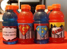 Drinks at a Superhero Party #superhero #partydrinks