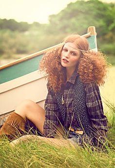 Mature hippy redhead