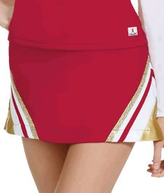 Metallic Double Knit Cheerleading Uniform Skirt by Chassé