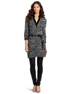 Buy D.E.P.T. Women's Cozy Long Cardigan Sweater, Black Melange, Medium Great deals every day - http://bestcomparemarket.com/buy-d-e-p-t-womens-cozy-long-cardigan-sweater-black-melange-medium-great-deals-every-day
