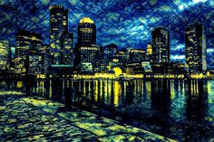 Dock | Created with Painnt app | Filter > Starry Night. Painnt uses neural networks to generate gorgeous artwork from your Camera roll. #trippy #vangogh #impressionist