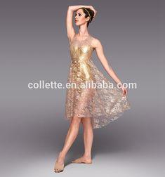 Mb2015201 superbe dentelle satin peplum de scène or lyrical ballet de danse de scène robe longue