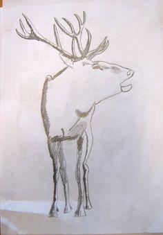 Animals. Art lesson for children aged 12