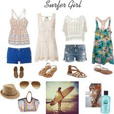 Surfer Girl by lesliekerr, via Polyvore
