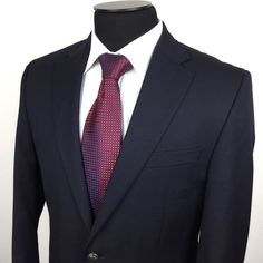 MICHAEL KORS Mens 40R Navy Blue 2-Metal-Button Classic Wool Blazer/Jacket   Shop for men's sports coats, sports jackets, blazers, suits, shirts, pants and Ties at www.designerclothingfans.com. Discover a variety of men's formalwear for the office to compl