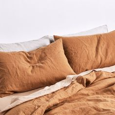 IN BED linen is a dream to sleep in year round; it's light and more breathable than cotton in Summer, but keeps you cozy and warm in Winter. The more it's slept in, lived in and loved the softer and more beautiful it becomes. Try it, you'll be as obsessed as we are.