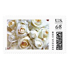 White Wedding Roses Bridal Bouquet Postage Stamps Pinterest Rose Bouquets And