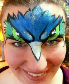 Seahawks design  Chelle Beautiful Face-Painting