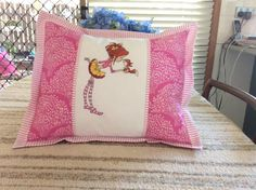 Girl and squirrel embroidery design